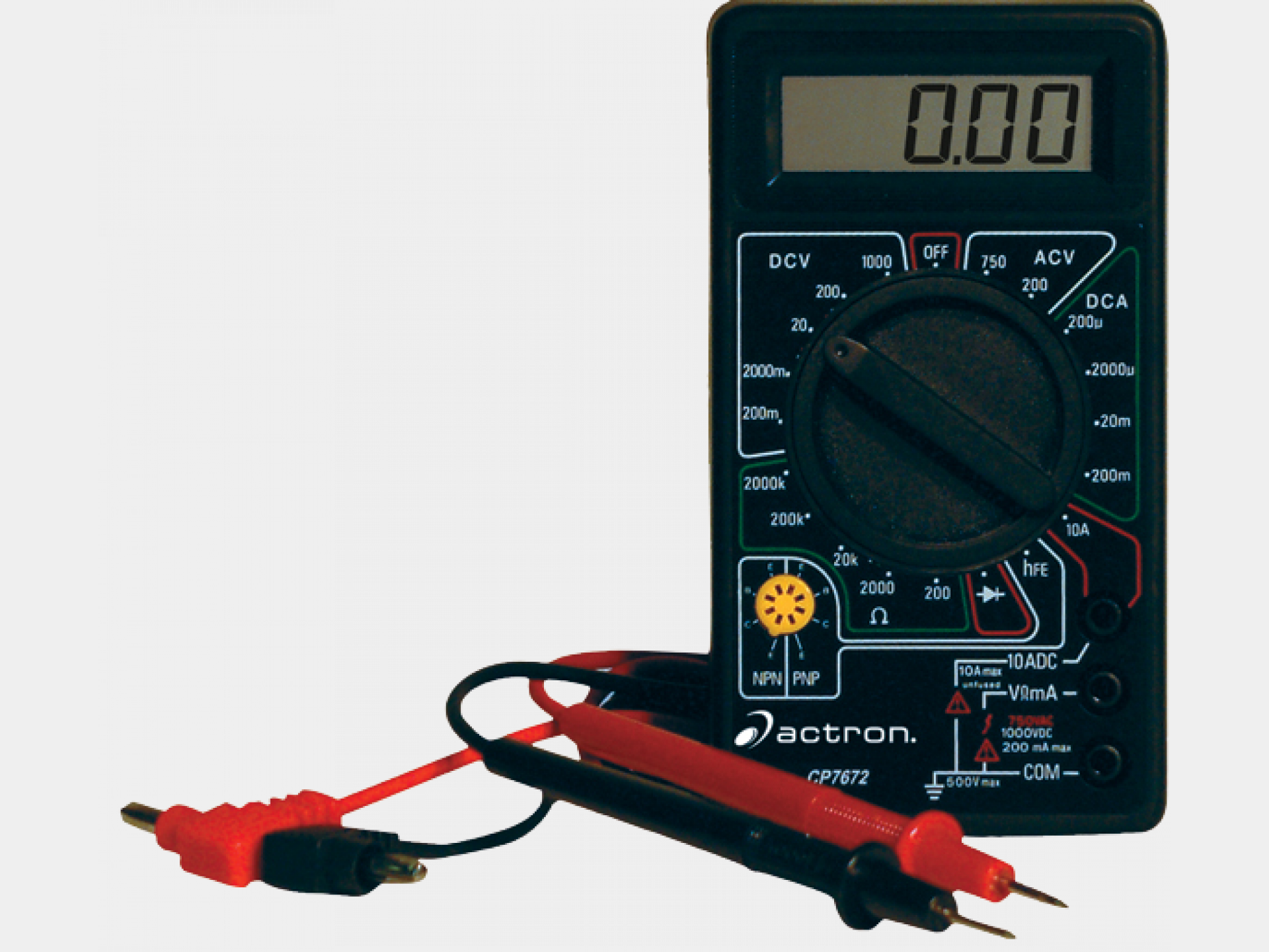 digital multitester actron rh actron com Digital Multimeter for Beginners Digital Oscilloscope